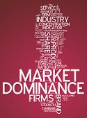 foto of domination  - Word Cloud with Market Dominance related tags - JPG