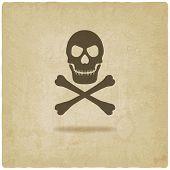 Skull and crossbones old background