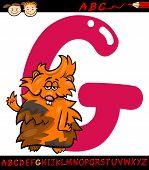 Letter G For Guinea Pig Cartoon Illustration