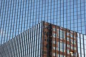 Background of glass building with reflections