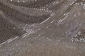 Silver Grey Polka Dot Sequined Fabric Background