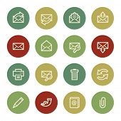 Email web icons, vintage color
