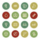 Medicine web icon set 2, vintage color