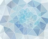 Abstract Triangular Texture In Blue Colours