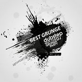 Grunge banner with an inky dribble strip with copy space. Abstract background for party. Grunge background
