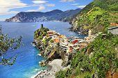 Vernazza -  scenic village in Ligurian coast of Italy