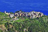Corniglia village over the rock - Cinque terre, Italy
