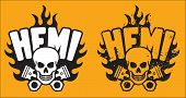 Hemi Skull and Pistons with grunge option