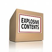 Explosive Contents On A Paper Box