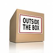 Outside The Box On A Paper Box