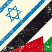 Israeli and palestinian grunge Flag. this flag represents the relationship  between Palestine and Is