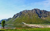 Mountains of the Lofoten Island in Northern Norway