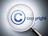 Magnifying Glass With Copyright Icon