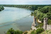 Maiden Tower Of Devin Castle And Confluence Of The Danube With Morava Rivers