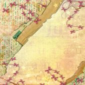 Abstract Beautiful Background In The Style Of Mixed Media With Alienated Paper