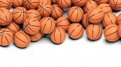 Basketball balls isolated on white background