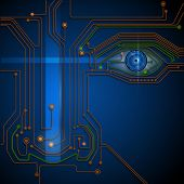 Circuit board with blue eye technology