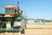 Volgograd, Russia - JULY 31, 2014: Demonstration of agricultural machinery in the context of