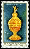 Vintage  Postage Stamp. Nadasdy Goblet.