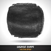 Vector Grunge Grey Shape