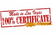 Made In Las Vegas One Hundred Percent Certificate