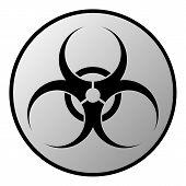 Biohazard Sign Button