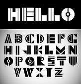 Modern font abc alphabet set