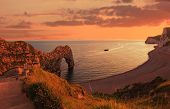 Durdle Door And Cove In The Evening, Uk