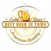 Beer stamp - vector illustration