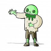 cartoon spooky zombie