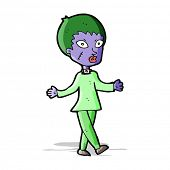 cartoon halloween zombie woman