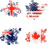 stock photo of usa flag  - Grunged flags of UK - JPG