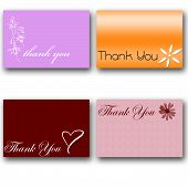 4 Thank You Cards