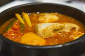 picture of kimchi  - Kimchi Stew With Tofu Korean Cuisine signature - JPG