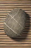 Stone On Bamboo