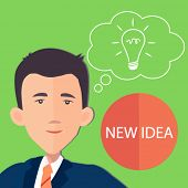businessman with an idea - flat design vector
