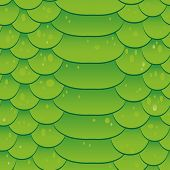 Snake skin texture. Seamless pattern green background. Vector