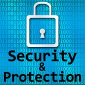 Security And Protection Binary Background