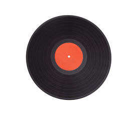 image of lp  - Black vinyl record lp album disc  - JPG