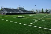 pic of bleachers  - Bleachers of American High School Football Stadium - JPG