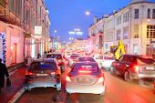 Moscow, Russia, December, 18, 2014: traffic jams in city Moscow