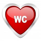 toilet valentine icon wc sign