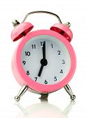 The Classic Pink Alarm Clock