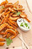 Fresh Potato Wedges
