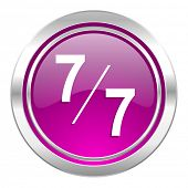 7 per 7 violet icon