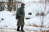 German Soldier Walking