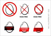 Vector Egg Free Symbols On White Background
