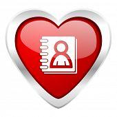 address book valentine icon