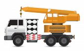 stock photo of boom-truck  - Illustration of mobile crane on heavy truck - JPG