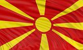3D Macedonian flag